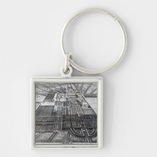 Badminton House in the County of Gloucester Keychain