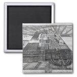Badminton House in the County of Gloucester 2 Inch Square Magnet