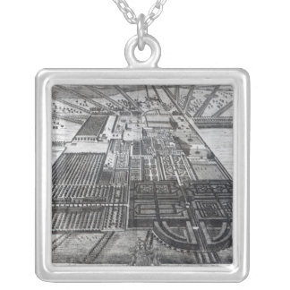 Badminton House in the County of Gloucester Square Pendant Necklace