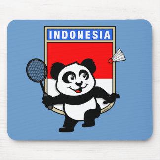 Badminton Indonesia Panda Mouse Pad