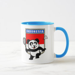 Combo Mug with Indonesian Badminton Panda design