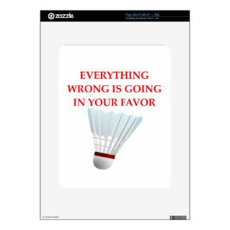 badminton iPad decal