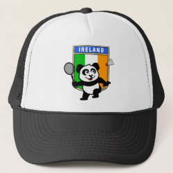 Trucker Hat with Ireland Badminton Panda design