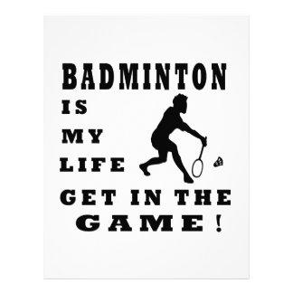 Badminton Is My Life Letterhead