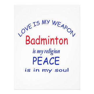 Badminton is my religion letterhead