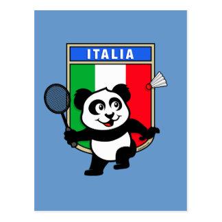 Badminton Italy Panda Postcard