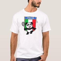Men's Basic T-Shirt with Italy Badminton Panda design