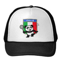 Trucker Hat with Italy Badminton Panda design