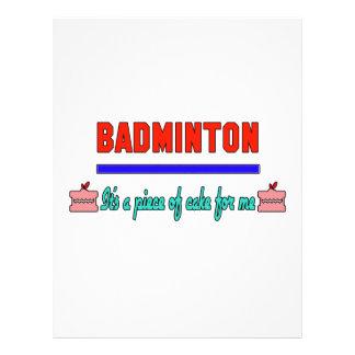 Badminton It's a piece of cake for me Letterhead
