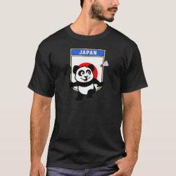 Men's Basic Dark T-Shirt with Japan Badminton Panda design