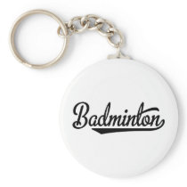 Badminton Keychain