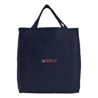 Badminton Kid Embroidered Tote Bag