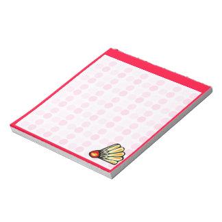 Bádminton lindo blocs de notas