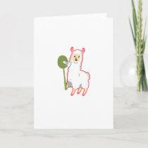 Badminton Llama Card