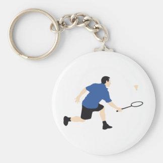 badminton llavero redondo tipo pin