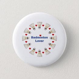 Badminton Lover Button