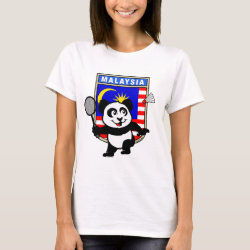 Women's Basic T-Shirt with Malaysia Badminton Panda design