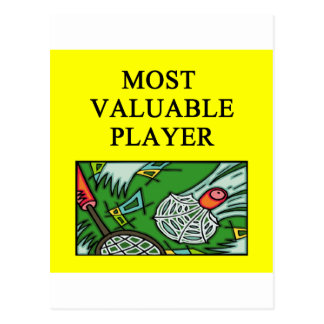 BADMINTON most valuable player Postcard