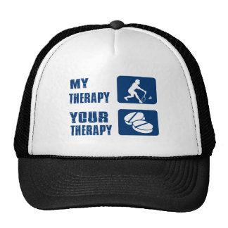 Badminton my therapy trucker hat