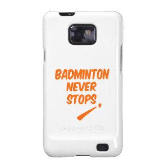 Badminton Never Stops Galaxy S2 Cases