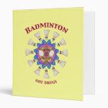Badminton Not Drugs 3 Ring Binder