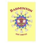 Badminton Not Drugs Business Cards