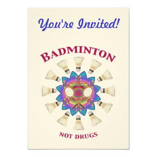 Badminton Not Drugs Card