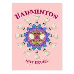 Badminton Not Drugs Postcards