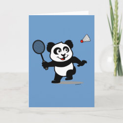 Standard Card with Cute Badminton Panda design