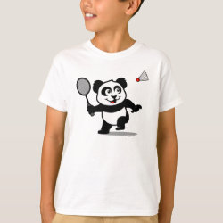 Kids' Hanes TAGLESS® T-Shirt with Cute Badminton Panda design