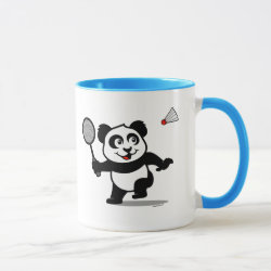 Combo Mug with Cute Badminton Panda design