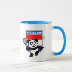 Combo Mug with Dutch Badminton Panda design