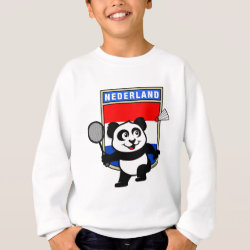 Kids' American Apparel Organic T-Shirt with Dutch Badminton Panda design
