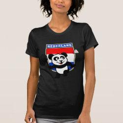 Women's American Apparel Fine Jersey Short Sleeve T-Shirt with Dutch Badminton Panda design
