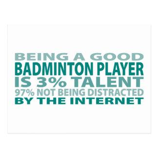 Badminton Player 3% Talent Postcard