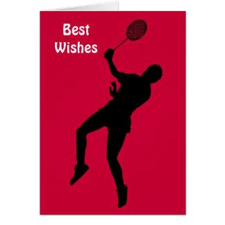 Badminton player card
