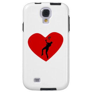 Badminton Player Heart Galaxy S4 Case