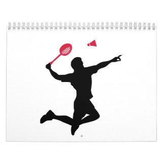 Badminton player jump calendar