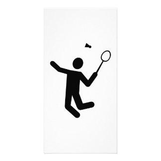 Badminton player photo cards