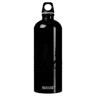 Badminton Player Racquet Sport Evolution Art Aluminum Water Bottle