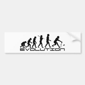 Badminton Player Racquet Sport Evolution Art Bumper Sticker