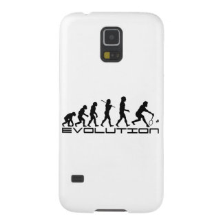Badminton Player Racquet Sport Evolution Art Galaxy S5 Covers