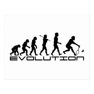 Badminton Player Racquet Sport Evolution Art Postcard
