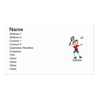 Badminton Player T-shirts and Gifts Double-Sided Standard Business Cards (Pack Of 100)