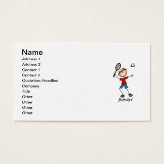 Badminton Player T-shirts and Gifts Business Card