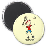 Badminton Player T-shirts and Gifts Fridge Magnet