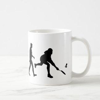 Badminton players badminton shuttlecock gift coffee mug