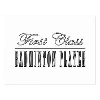 Badminton Players : First Class Badminton Player Postcard