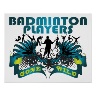 Badminton Players Gone Wild Poster