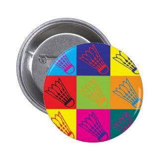 Badminton Pop Art Pinback Button